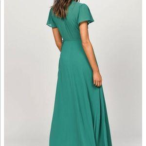 Tobi Dresses - piper green plunging maxi dress